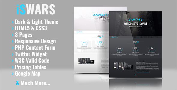 iSWARS - Portfolio Responsive HTML Template