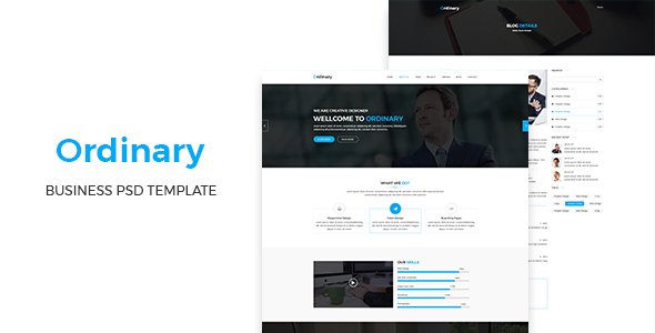 Ordinary – Corporate PSD Template