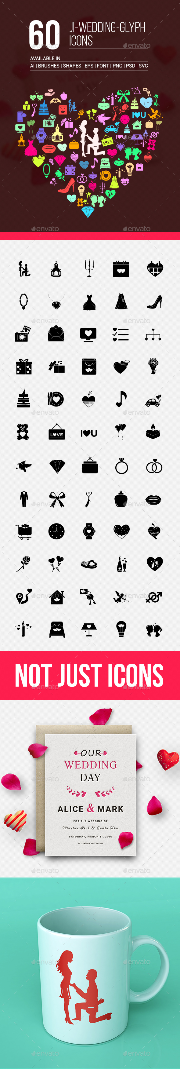 JI-Wedding (60 Icons) - Seasonal Icons