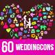 JI-Wedding (60 Icons) - GraphicRiver Item for Sale