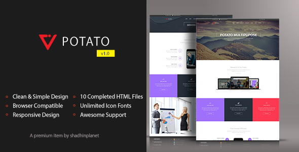 Potato – HTML5 Responsive Template