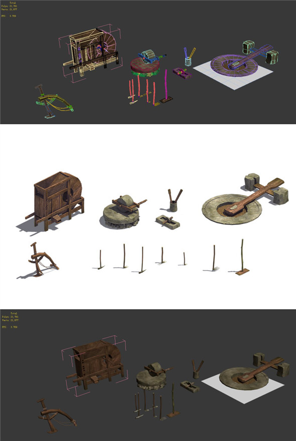 Ancient Chinese - Farmer Tools - 3DOcean Item for Sale