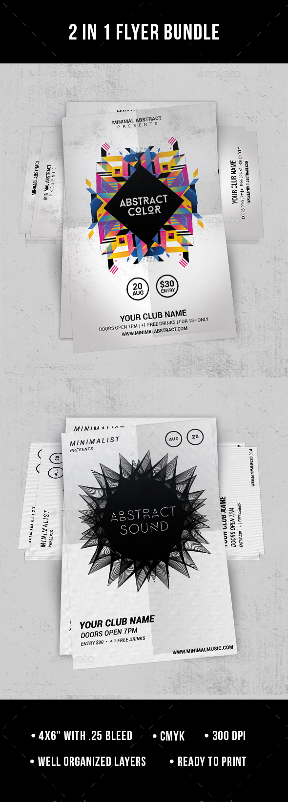 2 in 1 Flyer Bundle - Clubs & Parties Events