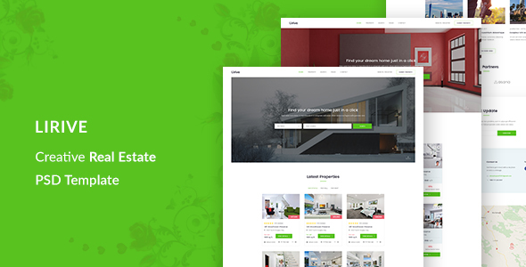 Lirive - Real Estate Template - Business Corporate