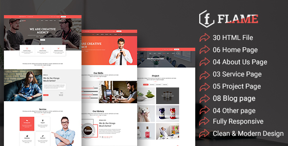 Flame – Multipurpose Corporate, Business, Agency HTML5 Template