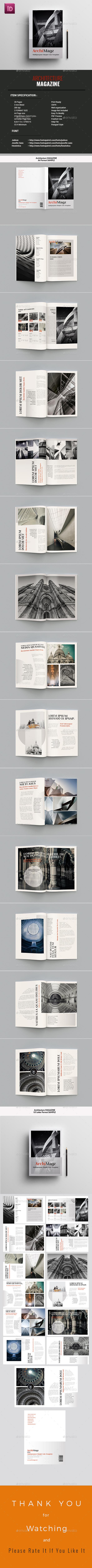 ArchiMagz Template - Magazines Print Templates