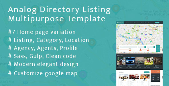 Analog Directory Listing Multipurpose Template + RTL