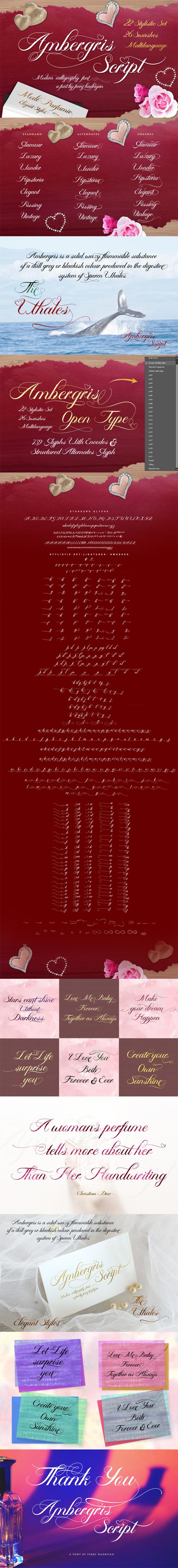 Ambergris - Script Font - Script Fonts