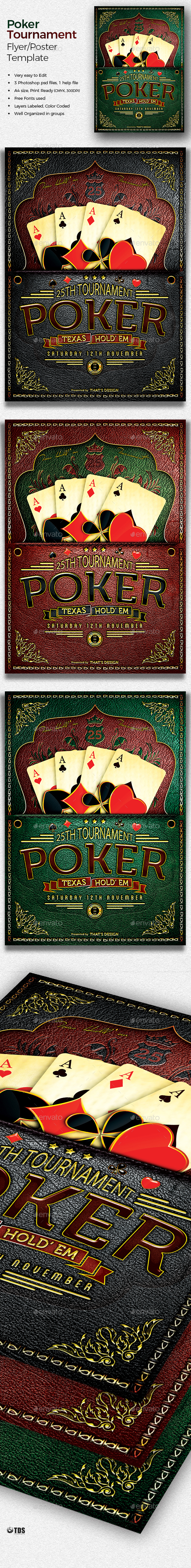 Poker Tournament Flyer Template - Events Flyers