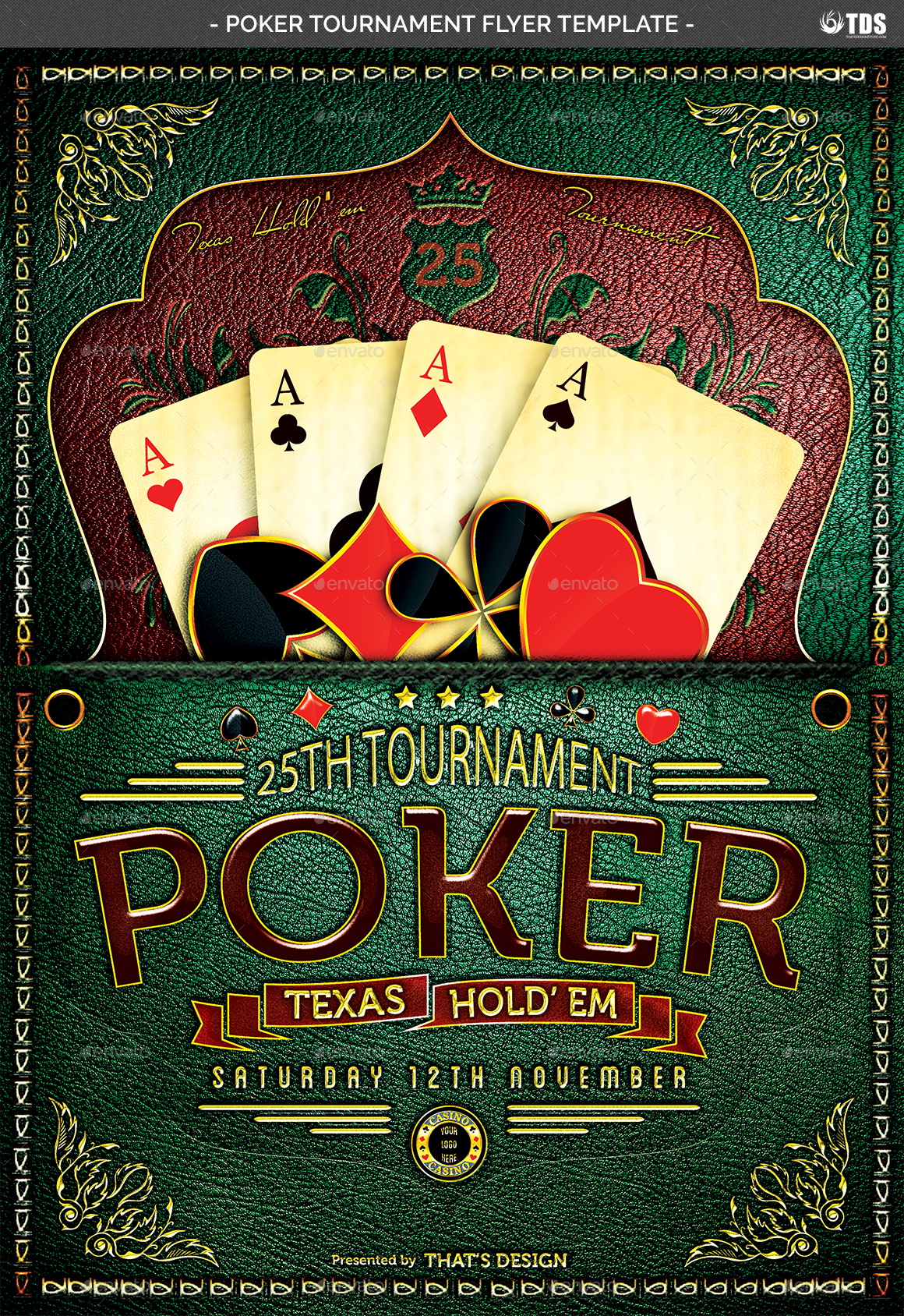 Poker Tournament Flyer Template by lou606 | GraphicRiver