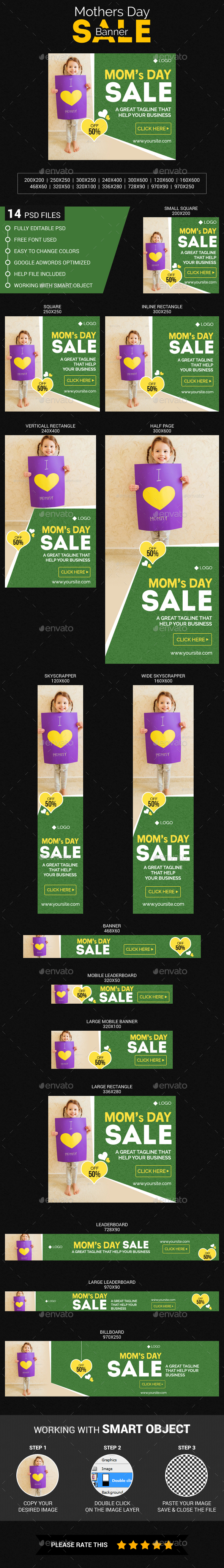 Moms Day Sale - Banners & Ads Web Elements