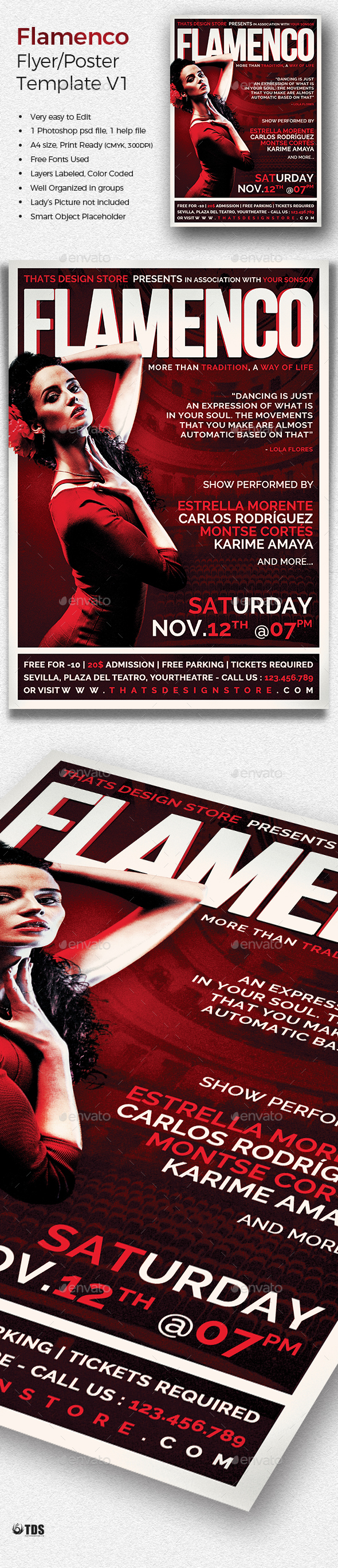 Flamenco Flyer Template V1 - Concerts Events