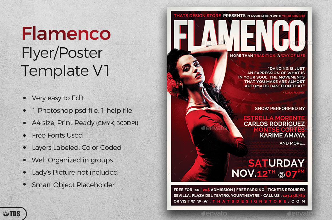 flamenco flyer template v1 by lou606 graphicriver