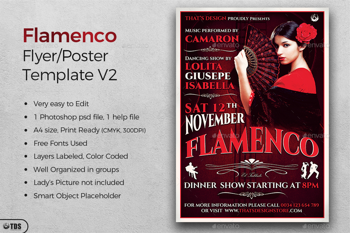 flamenco flyer template v2 by lou606 graphicriver