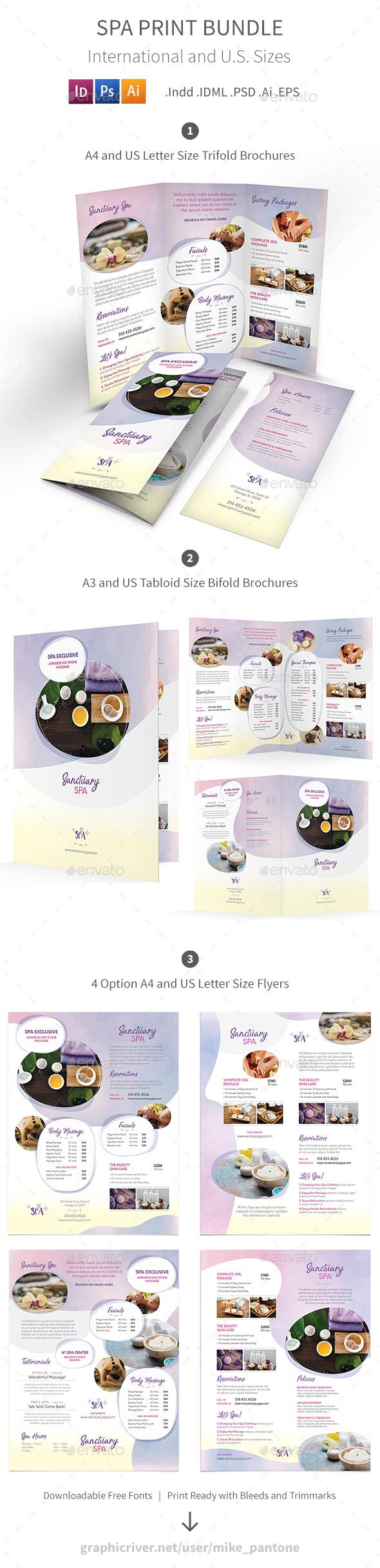 Spa Print Bundle 7 - Informational Brochures