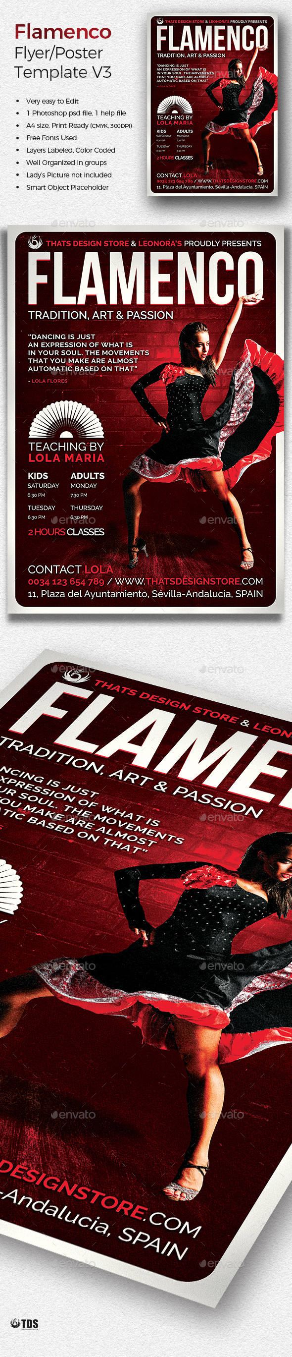 Flamenco Flyer Template V3 - Concerts Events