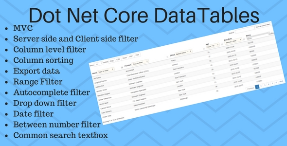 DotNet Core DataTables Grid - CodeCanyon Item for Sale
