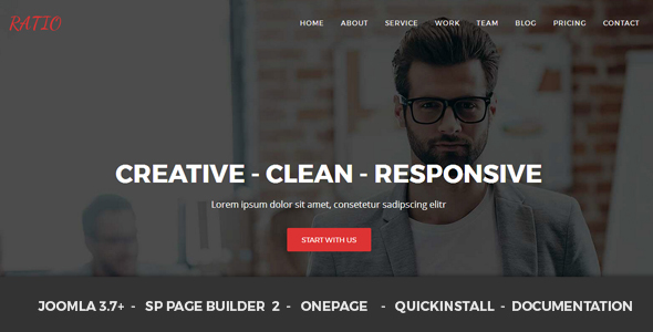 Ratio - Material Design Agency Responsive Joomla Theme