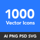 1000 Vector Icons - GraphicRiver Item for Sale