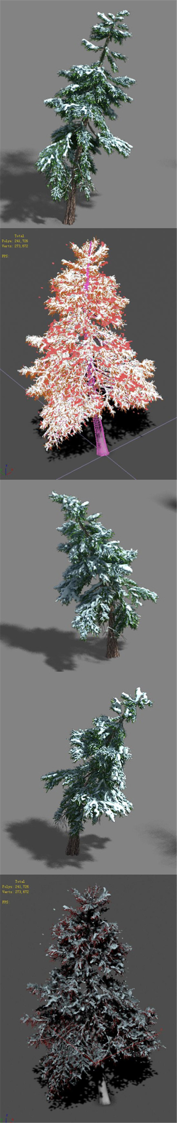 Ice and Snow - Cedar 02 - 3DOcean Item for Sale