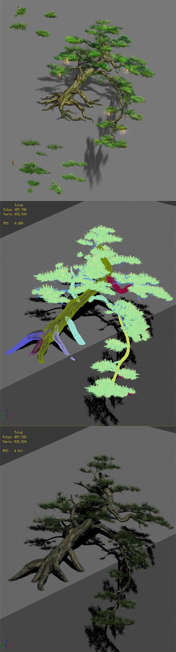Zen - cliff pine - 3DOcean Item for Sale