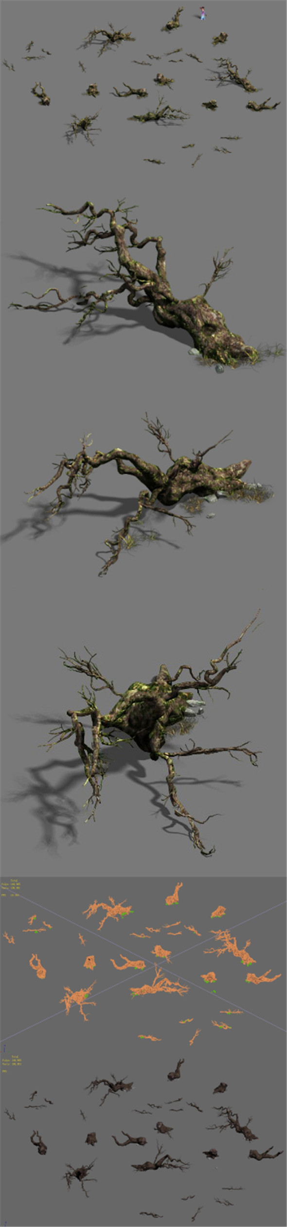 Fell to the ground to rotten trees - 3DOcean Item for Sale