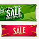 Mockup of Horizontal Banner / Rectangle Banner