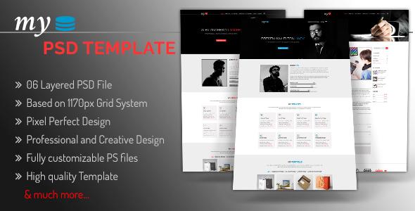 MY - Creative Personal Portfolio PSD Template - PSD Templates