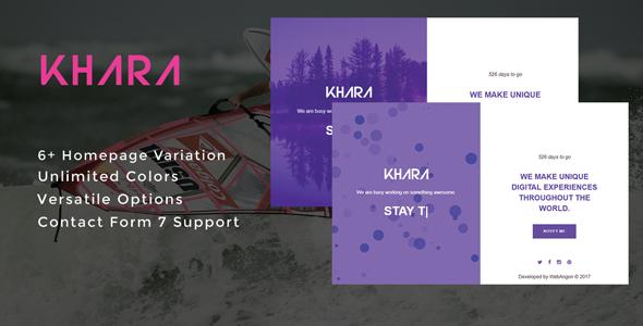 Khara - Ultimate Coming Soon & Maintenance Plugin - CodeCanyon Item for Sale
