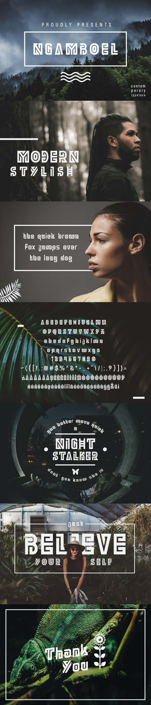 Ngamboel Typeface - Futuristic Decorative