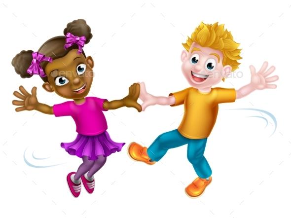 Children Dancing - People Characters