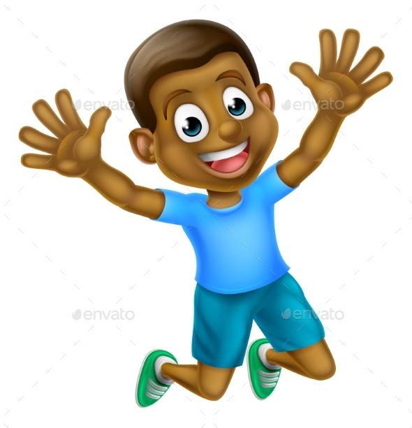 Cartoon Jumping - People Characters