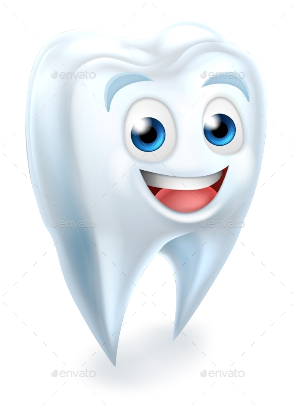 Tooth Dental Mascot - Health/Medicine Conceptual