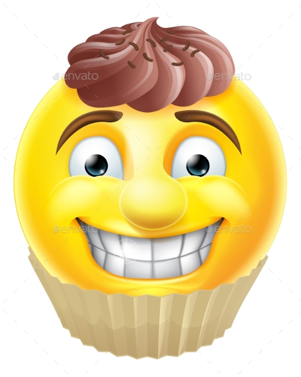 Chocolate Cake Emoji Emoticon - Food Objects