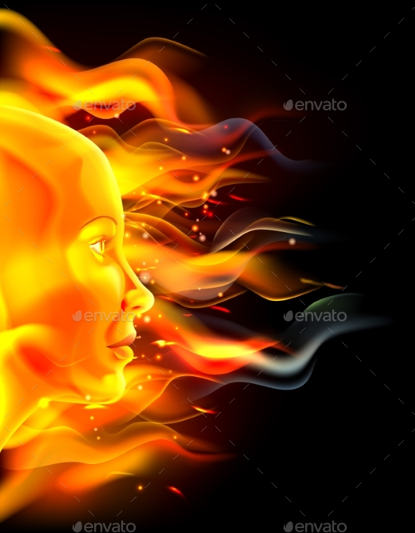 Fire Face Concept - Miscellaneous Vectors