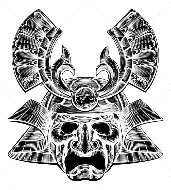 Samurai Mask - Miscellaneous Vectors