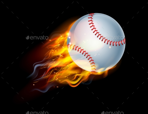 Baseball on Fire - Sports/Activity Conceptual