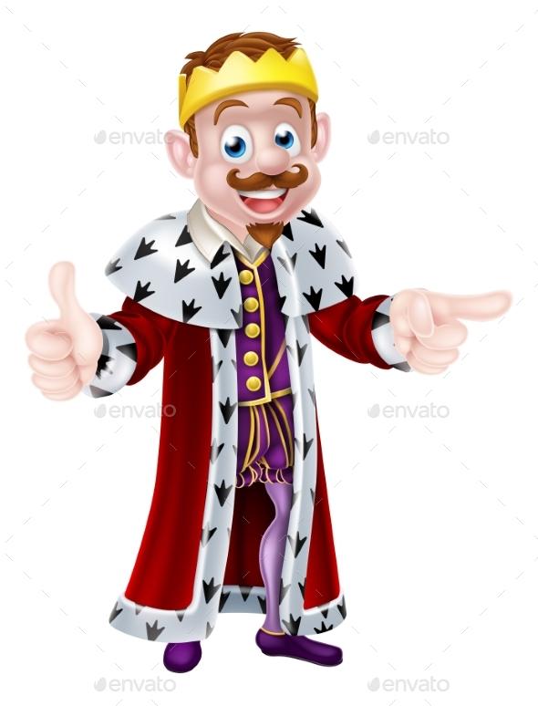 Cartoon King Drawing - People Characters