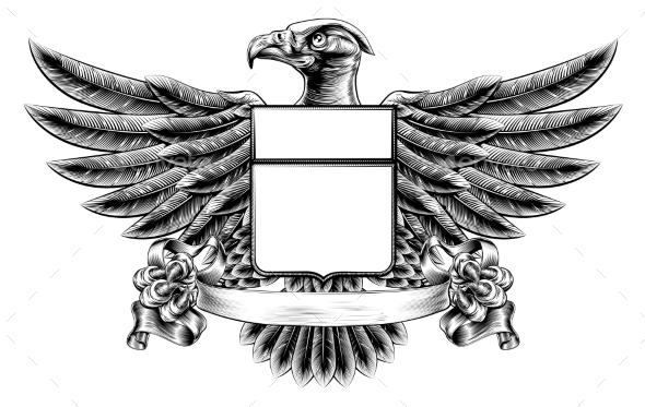 Eagle Shield Woodblock - Animals Characters