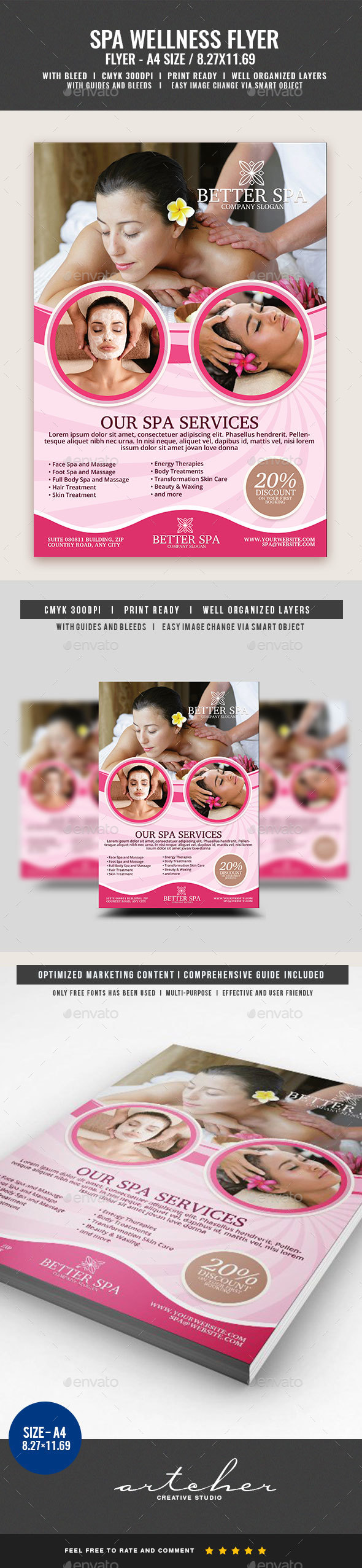 Spa and Massage Services Flyer - Corporate Flyers