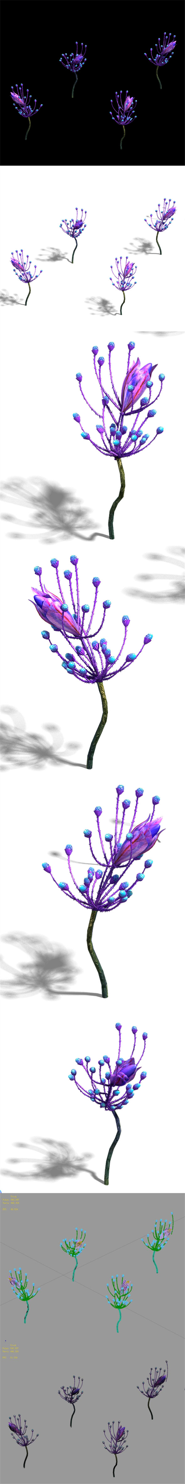 Wizard of the forest - supernatural flowers 02 - 3DOcean Item for Sale