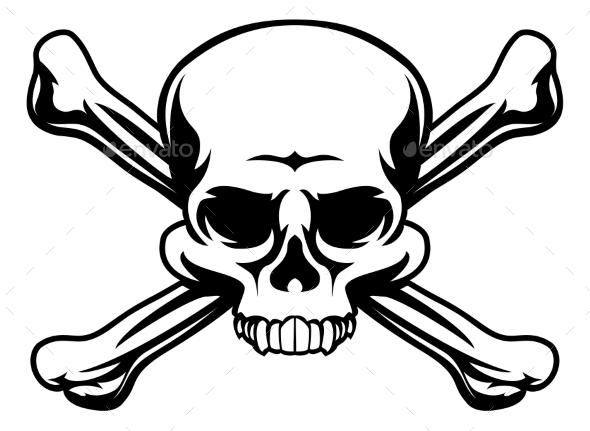 Skull and Crossbones Symbol - Miscellaneous Vectors