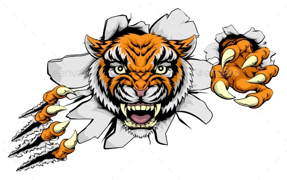 Tiger Attack Concept - Animals Characters