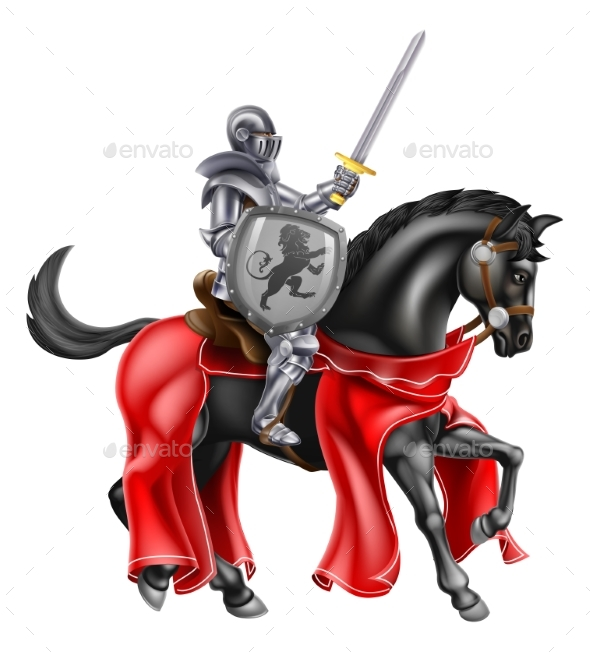 Sword and Shield Knight on Horse - Miscellaneous Characters