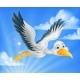Cartoon Stork Character