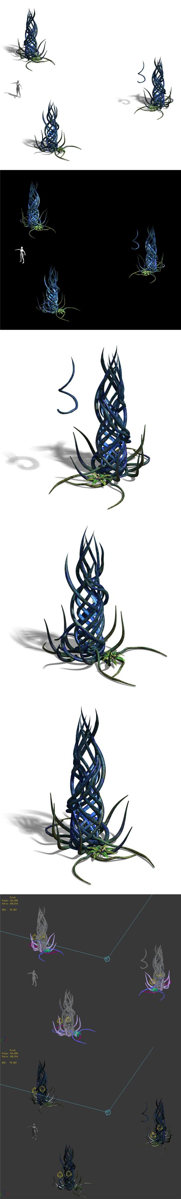 Elven Forest - Supernatural Flowers 03 - 3DOcean Item for Sale