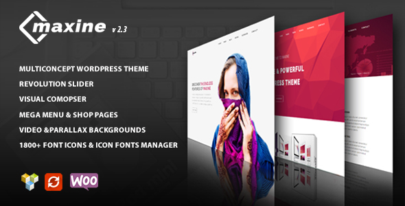 Maxine - Multi Concept WordPress Theme - Business Corporate