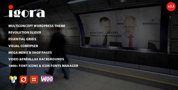 Igora - Multi Concept Wordpress Theme - Creative WordPress