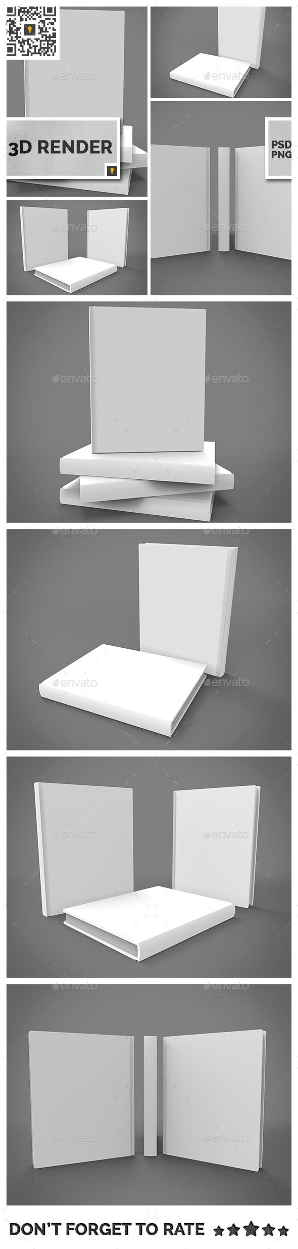 Book Set 3D Render - 3D Renders Graphics