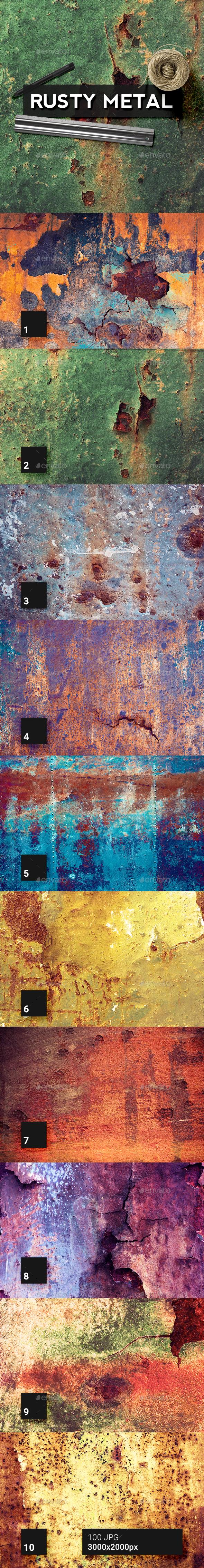 100 Rusty Metal Textures - Metal Textures